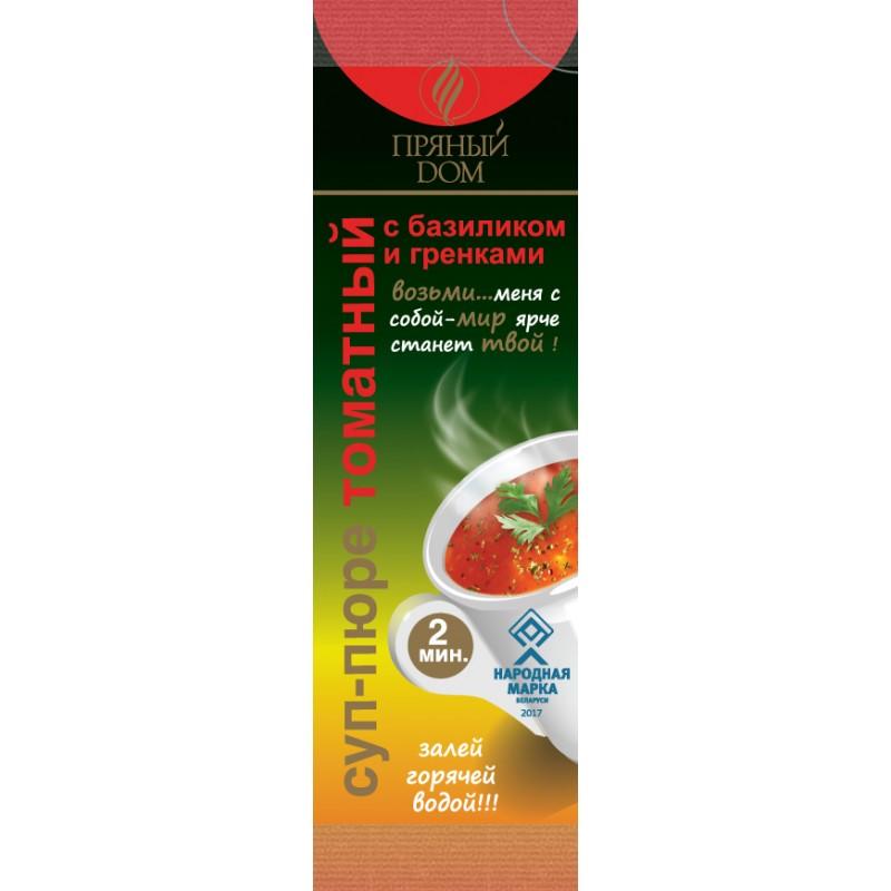 """Суп-пюре """"Пряный дом"""" томатный с базиликом и гренками, 16 г"""
